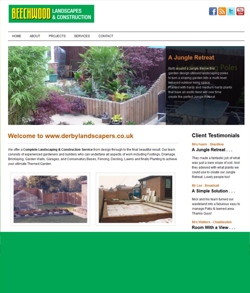A Derby Landscaper's website created by FRUU.co.uk showing examples of Landscape Gardening work undertaken.